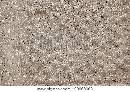 Speckled Texture Of A Brown Concrete