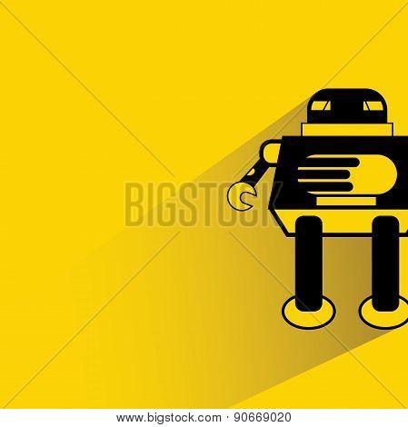 cartoon robot, monster