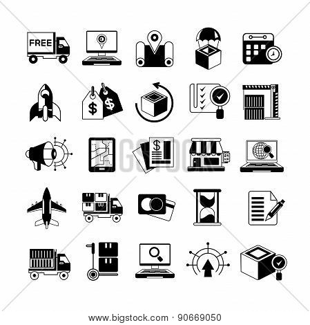 shipping and merchandising icons