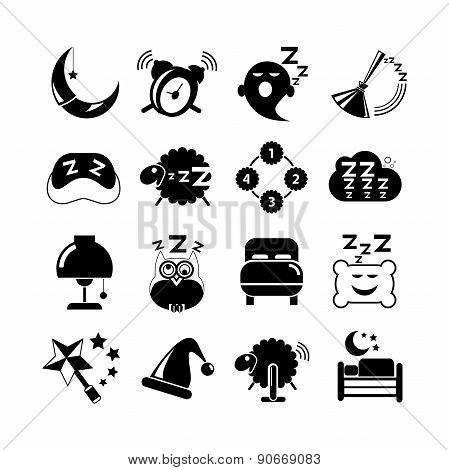 sleep icons