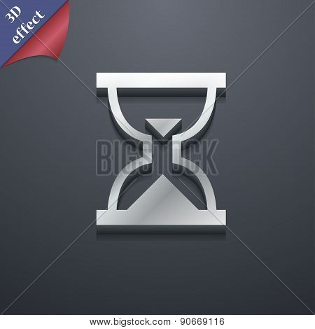 Hourglass, Sand Timer Icon Symbol. 3D Style. Trendy, Modern Design With Space For Your Text Vector