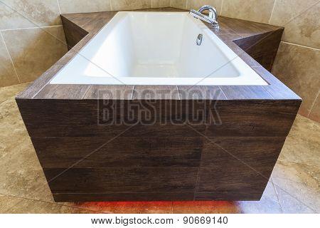 Modern Bathtub In The Residence