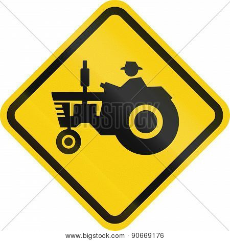 Tractor Crossing In Colombia