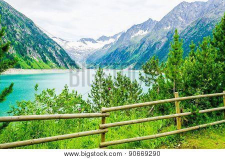 Lake Schlegeis, Zillertal Alps, Austria