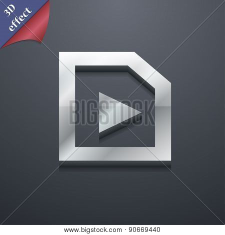 Play Icon Symbol. 3D Style. Trendy, Modern Design With Space For Your Text Vector