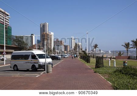 Promenade With Hotels On Golden Mile Durban, South Africa