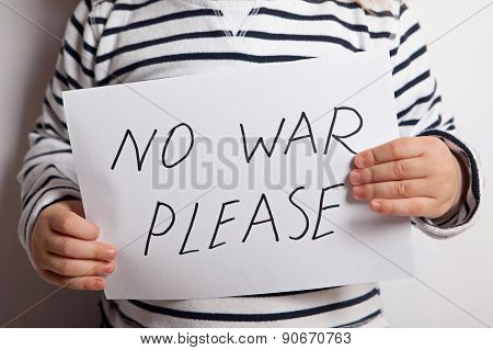 NO WAR Children For Peace