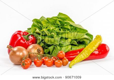 Fresh Healthy Colorful Vegetables