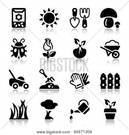 Garden Iconset With Reflex