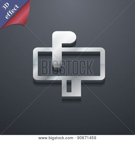Mailbox Icon Symbol. 3D Style. Trendy, Modern Design With Space For Your Text Vector