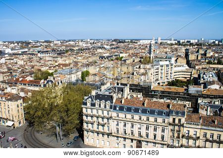 Cityscape Of Bordeaux, France