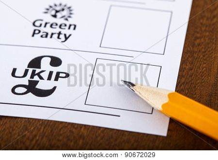 Ukip On A Ballot Paper