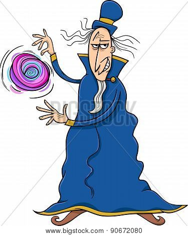 Evil Sorcerer Cartoon Illustration