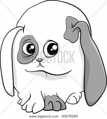 Baby Bunny Cartoon Illustration