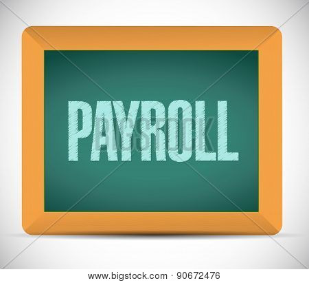 Payroll Board Sign Concept Illustration