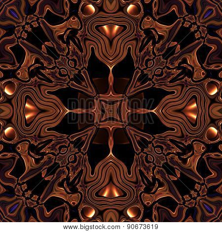 Abstract Metallic Bronze Viking Or Celtic Like Pattern Made Seamless