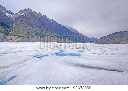 Looking Down A Glacier