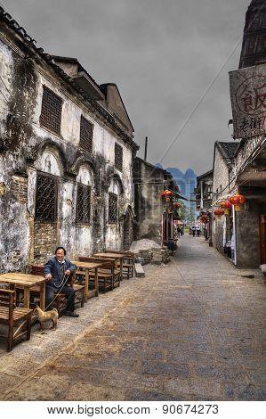 Xinping Ancien Town And Fishing Village, Guilin, Yangshuo, Guangxi, China.