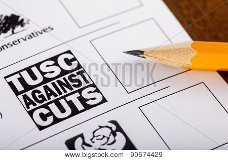 Tusc Party On A Uk Ballot Paper