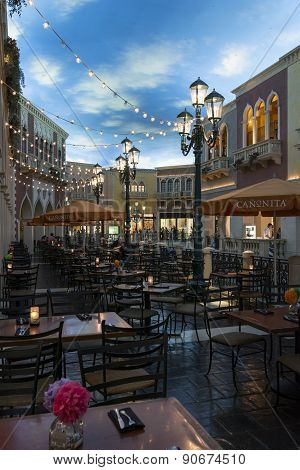A view inside of the Canonita restaurant at the Venetian hotel in Las Vegas.