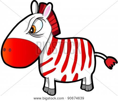 Nasty Tough Zebra Vector Illustration Art
