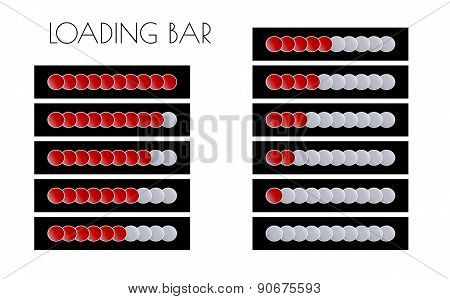 Red Loading Bars