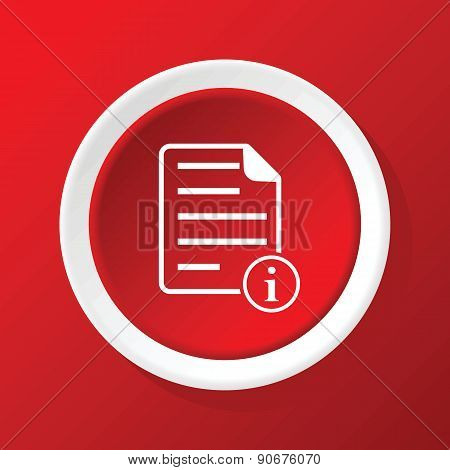 Information document icon on red