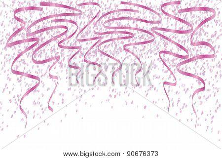 Falling Violet Confetti