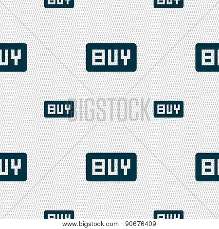 Buy, Online Buying Dollar Usd  Icon Sign. Seamless Pattern With Geometric Texture. Vector