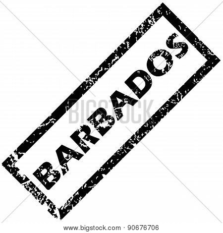 BARBADOS rubber stamp