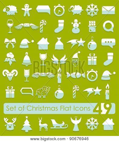 Set of Christmas icons