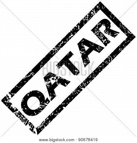 QATAR rubber stamp