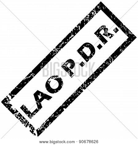 LAO PDR rubber stamp