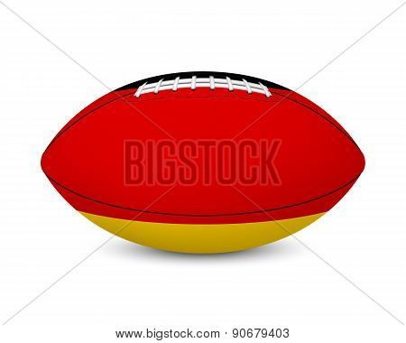 Football with flag of Germany, isolated on white