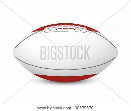Football with flag of Austria, isolated on white