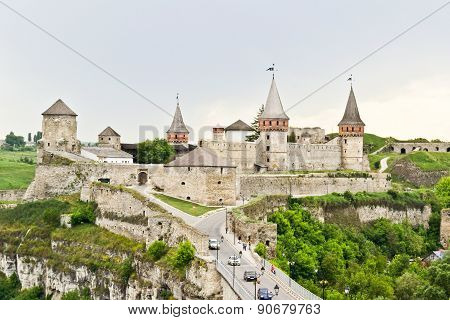 Panorama of Kamianets-Podilskyi Castle