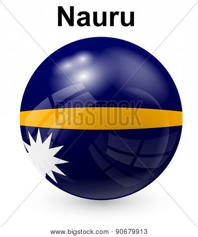 nauru  official state flag