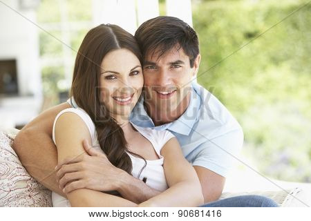 Couple Sitting outside together