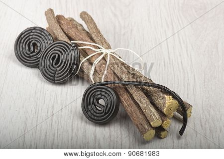 Licorice roots and licorice black