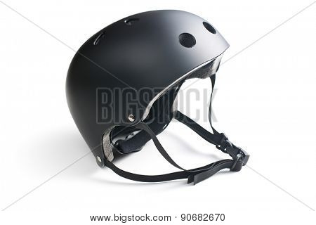 bike helmet on white background
