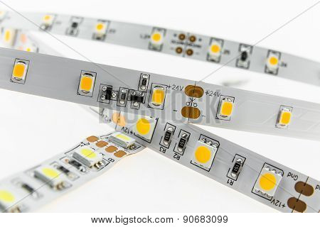 White Led Strips For Voltage 12V And 24V With Adjustable