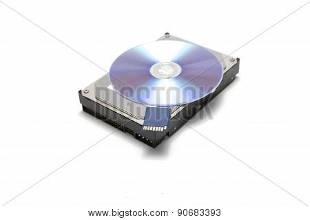 Sd Card And Hard Disk With Cd Dish