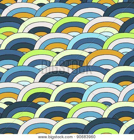 Decorative Bright Geometric Pattern