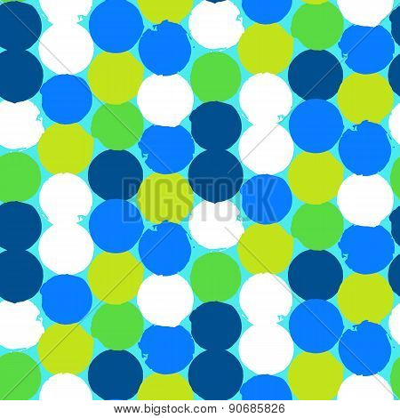 Bold geometric pattern with circles