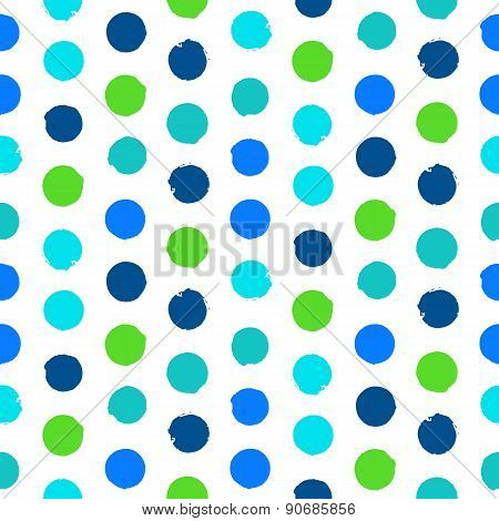 Polka dot pattern in green