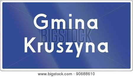 Municipality Border Sign In Poland