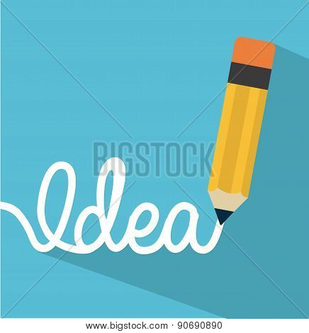 think design over blue background vector illustration