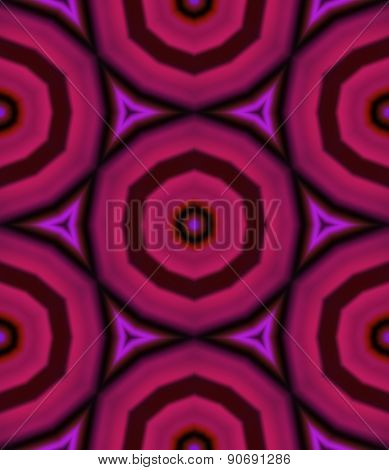 Pink Kaleidoscopic Seamless Pattern