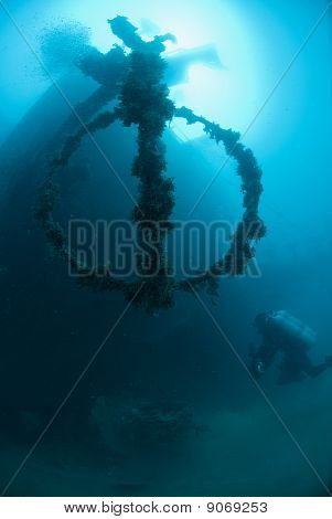 Scuba Diver Exploring The Shipwreck, The El Arish
