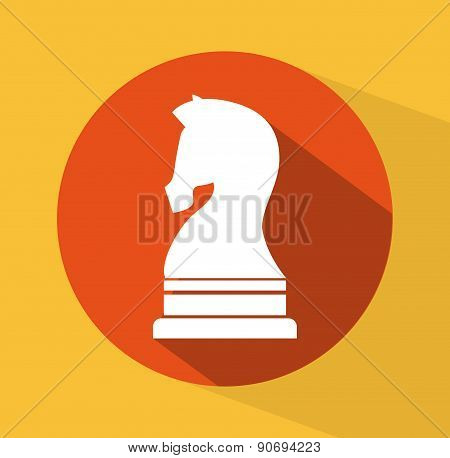 horse design over yellow background vector illustration
